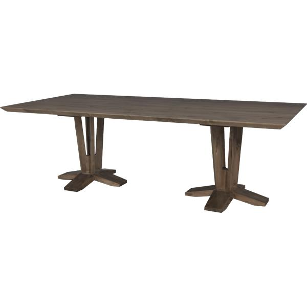 Lorts double pedestal dining table