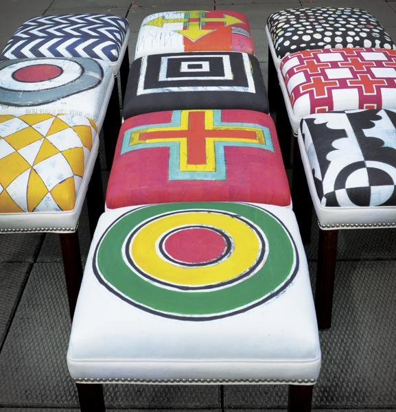 Carrier Collective Native American ottomans