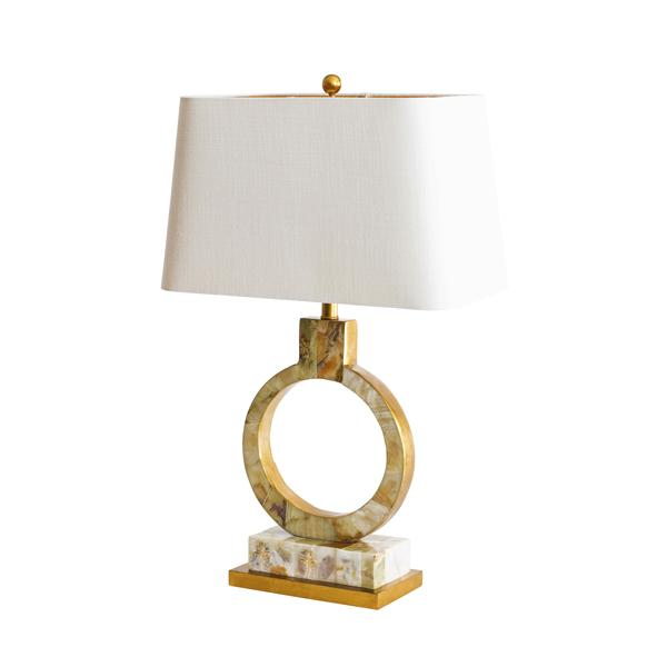 Couture Lamps Palisades onyx inlay lamp