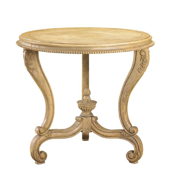 French Heritage Vivienne round end table