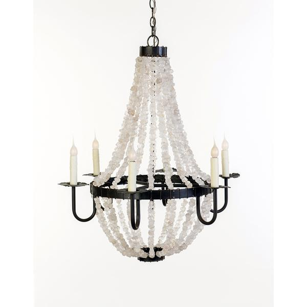 Lowcountry Originals quartz crystal chandelier