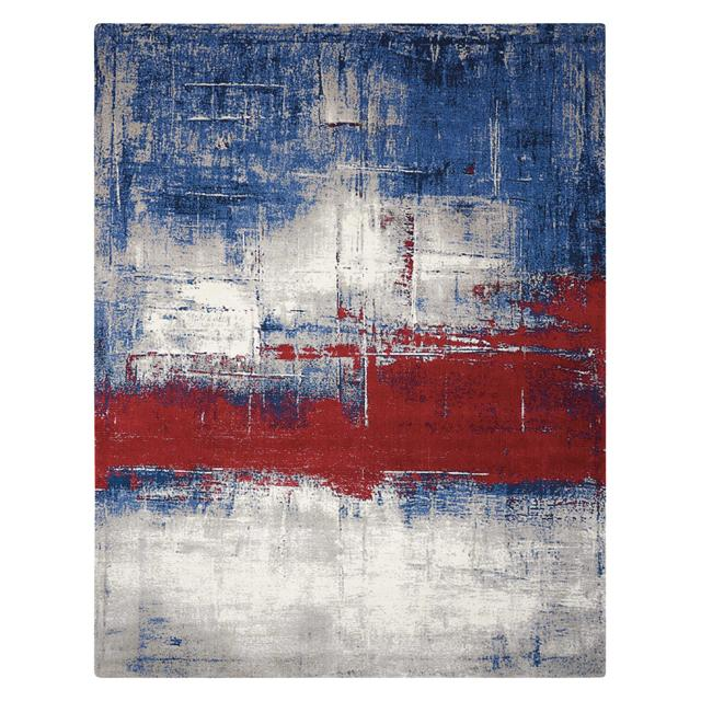 Nourison Twilight red white and blue rug