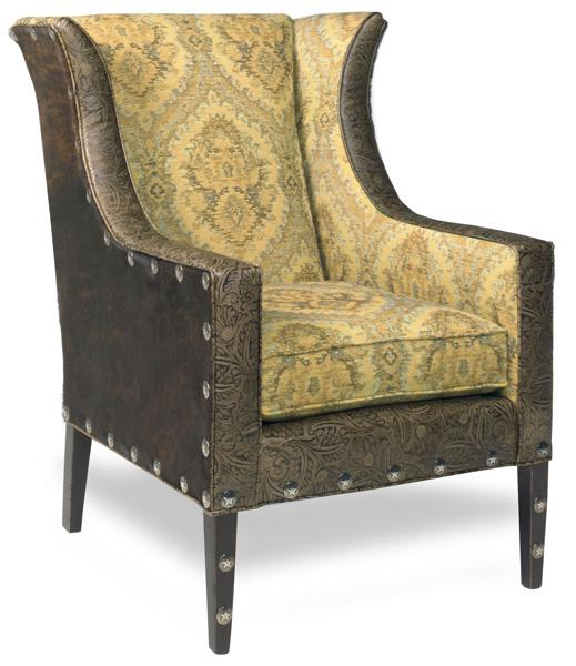 Parker Southern fabric leather chair