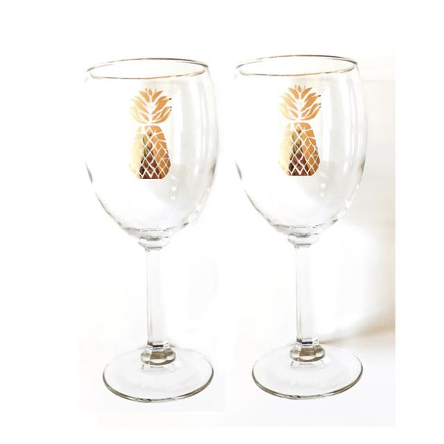 Blush Label Pineapple wine glasses